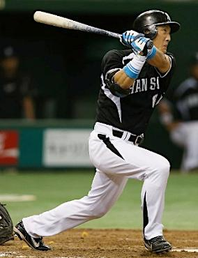 阪神の金本知憲外野手475本ホームラン
